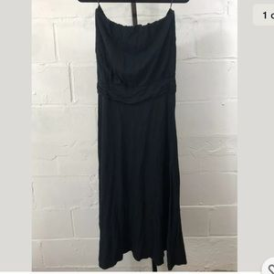 Renee C Strapless Maxi Dress Black Jersey Knit